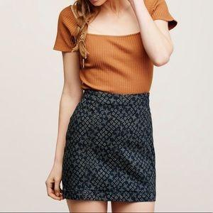 free people patterned modern femme mini skirt